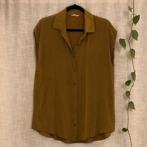 Ali Golden silk collared tunic, gold
